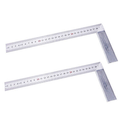 2x Steel L-Square Angle Ruler 90 Degree Ruler for Woodworking Carpenter Tool