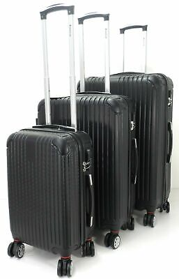 Set Of 3 Lightweight Hard Shell 8 wheel Spinner Luggage Suitcases Trolley Case