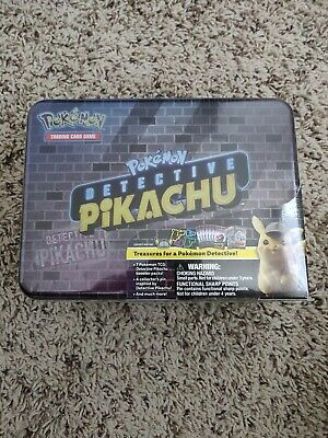 POKEMON TCG DETECTIVE Pikachu Collectors Chest Lunch Box 9 Booster