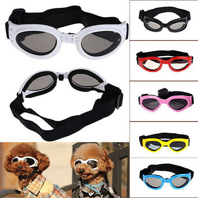1 pair SMALL PET DOG Goggles Doggles SUNGLASSES UV Eye Protection TDO