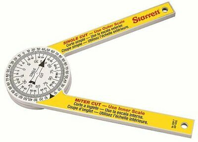 Starrett 505P-7 Miter Saw Protractor Laser Engraved Dial Accuracy With 2 Scales