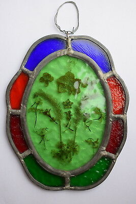 Vintage Stained Glass Leaded Panel