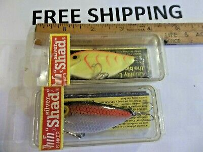 Storm ThinFin Silver Shad Pre Rapala Fishing Lure T104 RED LABEL Metallic Yellow