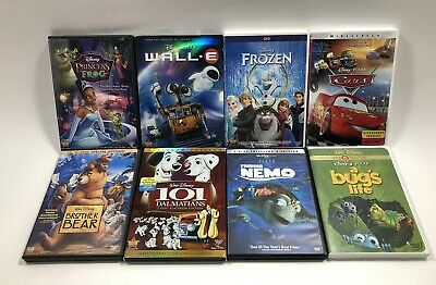 Lot of 8 Disney Animated Classic DVD Films Finding Nemo Cars Frozen Wall.E