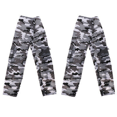 "2pc 1/6 Military Camouflage Pants Combat Camo Trousers for 12"" Action Figure"
