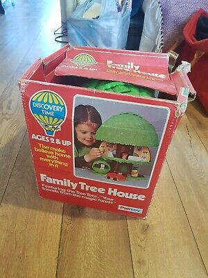 Vintage 1970's Palitoy Discovery Time Family Tree House with original box