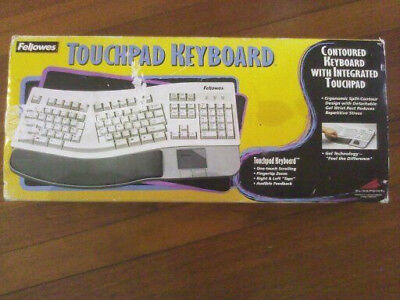 Vintage Find Fellows Contured Keyboard With Integrated Touchpad In Original Box