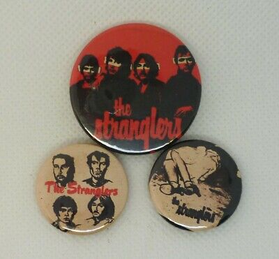 The Stranglers, Clash, Damned, Pistols, Punk Pin button badges, SIGNS OF RUST
