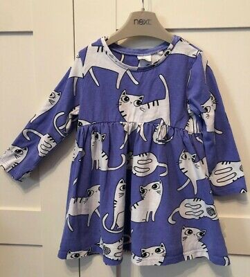 Baby Girl 12-18m Cute Next Cat Dress Good Condition!