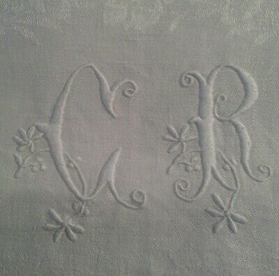 Vintage French napkins monogrammed two