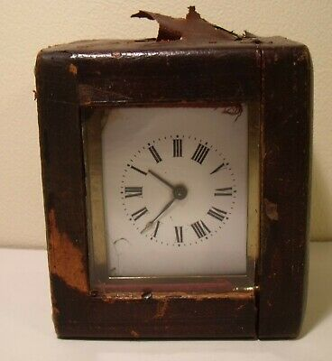 Brass Carriage Clock With Case A/F