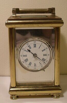 20th Century French Brass Carriage Clock