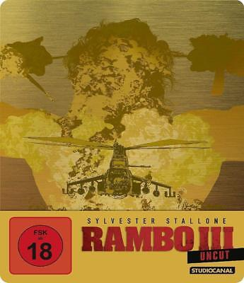 Steelbook RAMBO 3 III Stallone UNCUT Limited Edition BLU-RAY Futurepak Metalpak