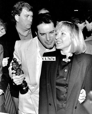 Freddie Mercury of Rock Band Queen with Mary Austin at the Ivor Novello Awards