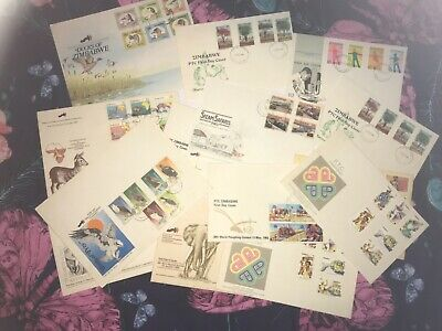 Stamps Africa, Zimbabwe 14 X Assorted First Day Covers
