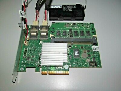 Dell W56W0 PERC H700 PCIe 512Mb 6GBps SAS Raid controller leads battery