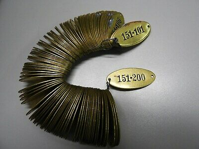 100 Vintage Brass Tags, Locker Tags - Sequential, Industrial, Steampunk - Unused