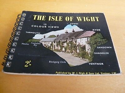 VINTAGE POSTCARDS - ISLE OF WIGHT - MINIATURE BOOKLET - 1960's WIRE BINDING