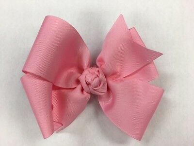 Pinwheel Boutique Hair Bow Pink Toddler 2 1/4 inch wide ribbon Girl