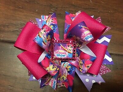 Shimmer and Shine Stacked Boutique Hair Bow Homemade Toddler Girl Disney