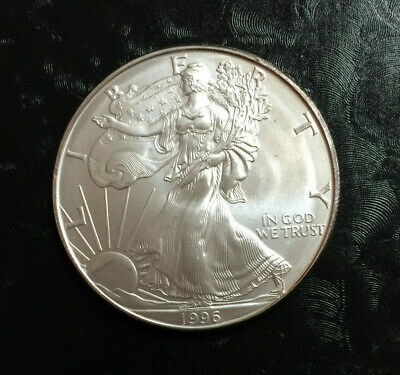 1996 American Silver Eagle $1 ~ United States Silver Dollar Coin ~ Rarest Date 1