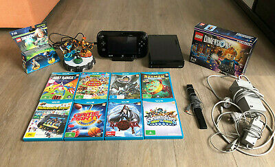 Nintendo Wii U 32GB Console with 8 GAMES, Lego Dimensions, Monster Hunter lot