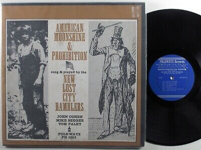 NEW LOST CITY RAMBLERS American Moonshine & Prohibition FOLKWAYS LP w/booklet