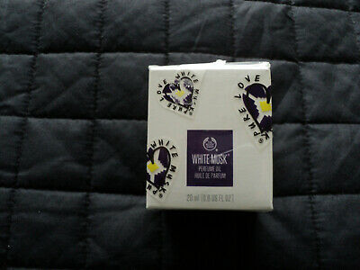 The Body Shop Perfume Oil White Musk 20ml Brand New Sealed Packaging.
