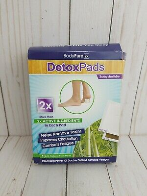 BodyPure Detox Pads 2x active ingredients - 10 Pack ( New in damaged box)