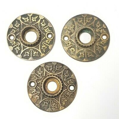 Antique Door Hardware Eastlake Ornate Rosettes  Escutcheons RE5 Lot of 3