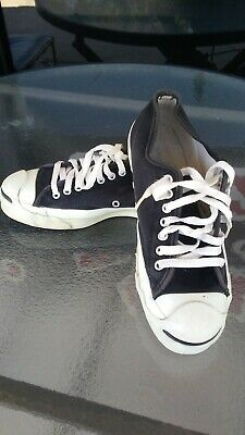 01d885bf8a69 Converse Jack Purcell Black Canvas Made in USA Men Sz 6.5 Sneakers Shoes