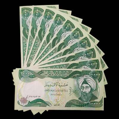100,000 Iraqi Dinar (10) 10,000 Note Uncirculated!! Authentic! Iqd!