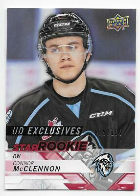 18/19 UPPER DECK CHL UD EXCLUSIVES PARALLEL /100 (#301-400) U-Pick From List