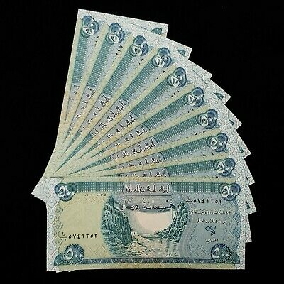 5,000 Iraqi Dinar (10) 500 Note Uncirculated!! Authentic! Iqd!