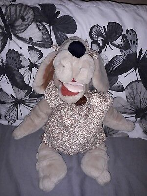 Wrinkles Dog vintage Plush Toy 1980s MINT Condition With Bone