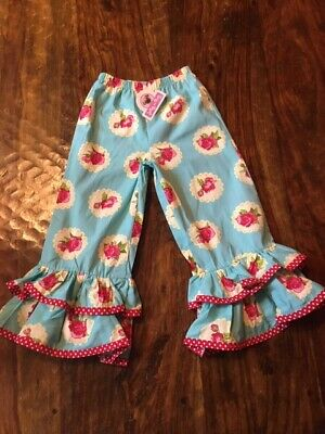 Jelly the Pug pants crop leggings 5 6 7 8 9 10 12 NWT CHOICE Bellas Ruffle