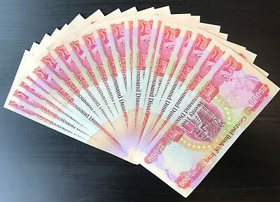(20) 25,000 Iqd Banknotes (Half Million Iraqi Dinar) Authentic - Fast Delivery