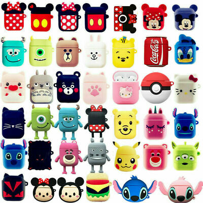 Cute Cartoon Silicone Airpod Protective Case Cover Skin For Apple Airpods 1 2
