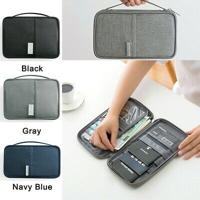 Travel Wallet Family Passport Holder Organizer Document Bag Case ID Card