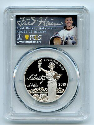 2019 W $100 Platinum Proof Eagle 1oz PCGS PR70DCAM First Strike Fred Haise