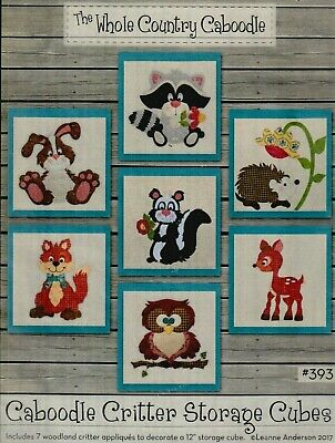 Caboodle Critter Storage Cubes - fun applique PATTERN