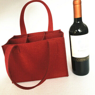 Wine Bag Carrier Reusable Cloth Each holds 6 bottles Lot of Four 6 Totes