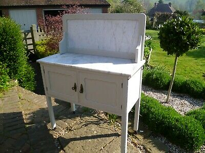 Edwardian marble top washstand