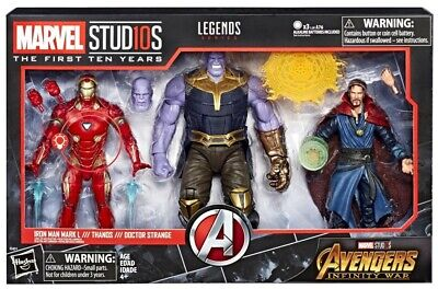 NEW  Marvel Legends Studios First Ten 10  Years Iron Man L Thanos Doctor Strange