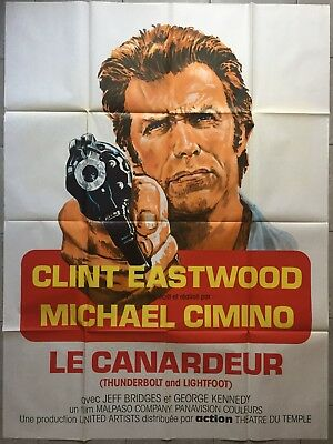 Affiche LE CANARDEUR Thunderbolt and Lightfoot CLINT EASTWOOD Cimino R120x160cm