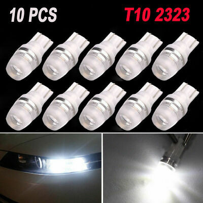 10pcs/set 12V Car White LED Light T10 2SMD Wedge W5W 192 168 194 LED Bulbs Lamp