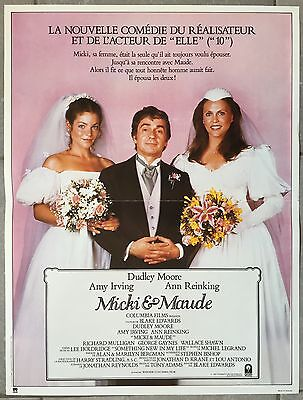 Affiche MICKI & MAUDE Blake Edwards DUDLEY MOORE Amy Irving 40x60cm *