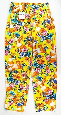 New MOSCHINO COUTURE X JEREMY SCOTT Traffic Cone Print Casual Pants 6/40 $895