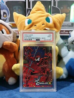 PSA 9 1994 Fleer Carnage 66 The Amazing Spider-Man Marvel