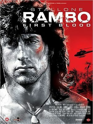 Affiche Pliée 40x60cm RAMBO /FIRST BLOOD 1983 Sylvester Stallone R2015 NEUVE